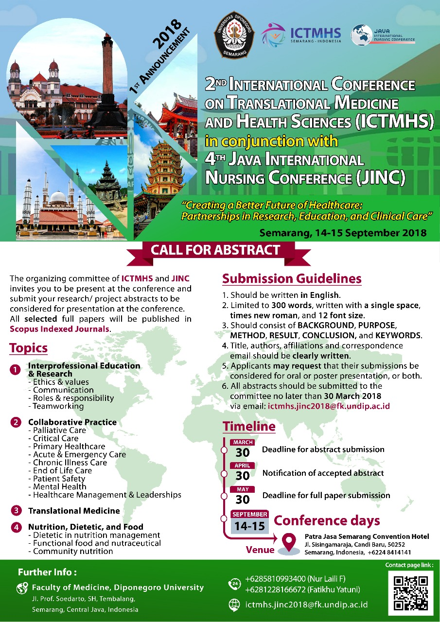 Call For Abstract ICTMHS